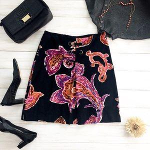Etcetera Soft Black Fine Corduroy A-line Skirt - 2